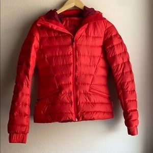 The North Face puffer jacket.